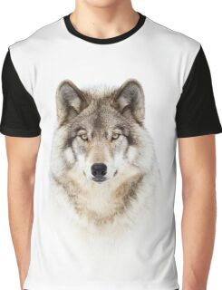 Portrait of a Wolf - Timber Wolf Graphic T-Shirt