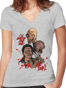 Evil Dead 2: Dead by Dawn - Artwork - I'll Swallow your soul! Women's Fitted V-Neck T-Shirt