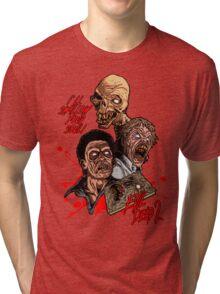 Evil Dead 2: Dead by Dawn - Artwork - I'll Swallow your soul! Tri-blend T-Shirt