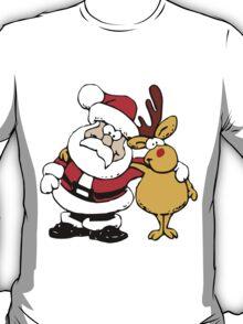 Buddies Santa and Rudolf T-Shirt