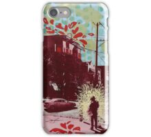 blooming thoughts from mixed media iPhone Case/Skin