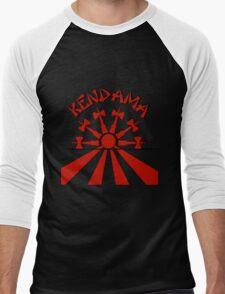 Kendama Sun, red Men's Baseball ¾ T-Shirt