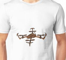 Funny Cool Rabbit Drone Art Unisex T-Shirt
