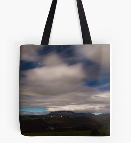 Mt Roland by Moonlight Tote Bag