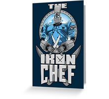 The Iron Chef Greeting Card