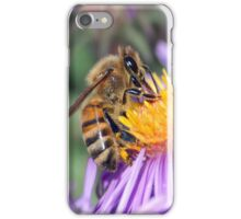 Honey Bee On Purple Flower iPhone Case/Skin