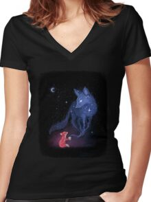 Celestial Women's Fitted V-Neck T-Shirt