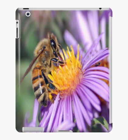 Honey Bee On Purple Flower iPad Case/Skin