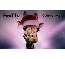 Giraffy Christmas Photographic Print