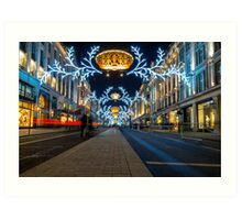 Regent Street Christmas Lights Art Print