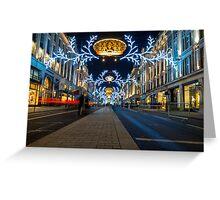 Regent Street Christmas Lights Greeting Card