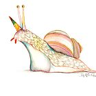 Rainbow Unicorn Snail by EmeraldBarkley