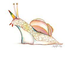Rainbow Unicorn Snail by EmeraldBarkley