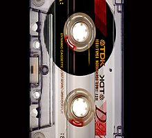 Classic Retro TDK Clear Transparent cassette Tape by Johnny Sunardi