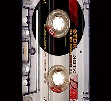 Classic Retro TDK Clear Transparent cassette Tape by Johnny Sunardi