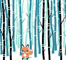 Fox in the Forest by knitetgantt