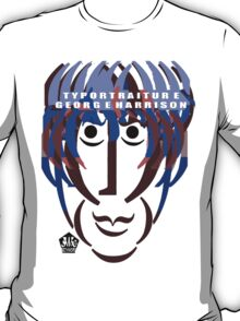 Typortraiture George Harrison T-Shirt