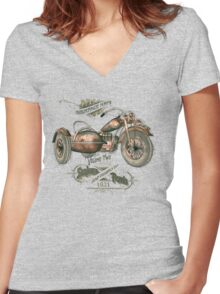1921 Sidecar Women's Fitted V-Neck T-Shirt