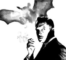 Vincent Price Bat Smoke  by justin13art
