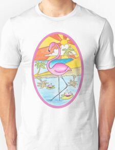 Sunset Flamingo Unisex T-Shirt