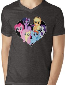 chest heart ponies  Mens V-Neck T-Shirt