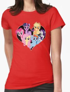chest heart ponies  Womens Fitted T-Shirt
