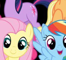 chest heart ponies  Sticker