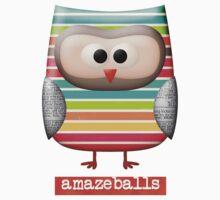 Amazing Amazeballs Striped Owl Kids Clothes