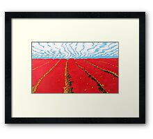 Table Cape Red Framed Print