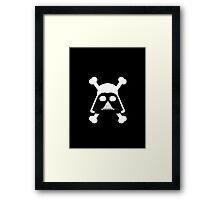 Star Wars - Darth Vader Pirate - White Framed Print