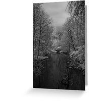 footbridge at lost lagoon Greeting Card