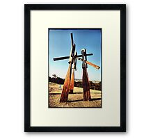 """Sculpture by the Sea 2013 - Stephen King """"Fallout"""" Framed Print"""