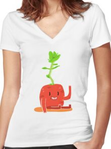 LIL TURNIP Women's Fitted V-Neck T-Shirt