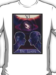 """The Lovers"" Tarot Card Shirt (Saturn!) T-Shirt"