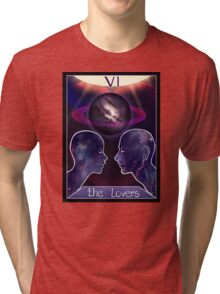 """The Lovers"" Tarot Card Shirt (Saturn!) Tri-blend T-Shirt"