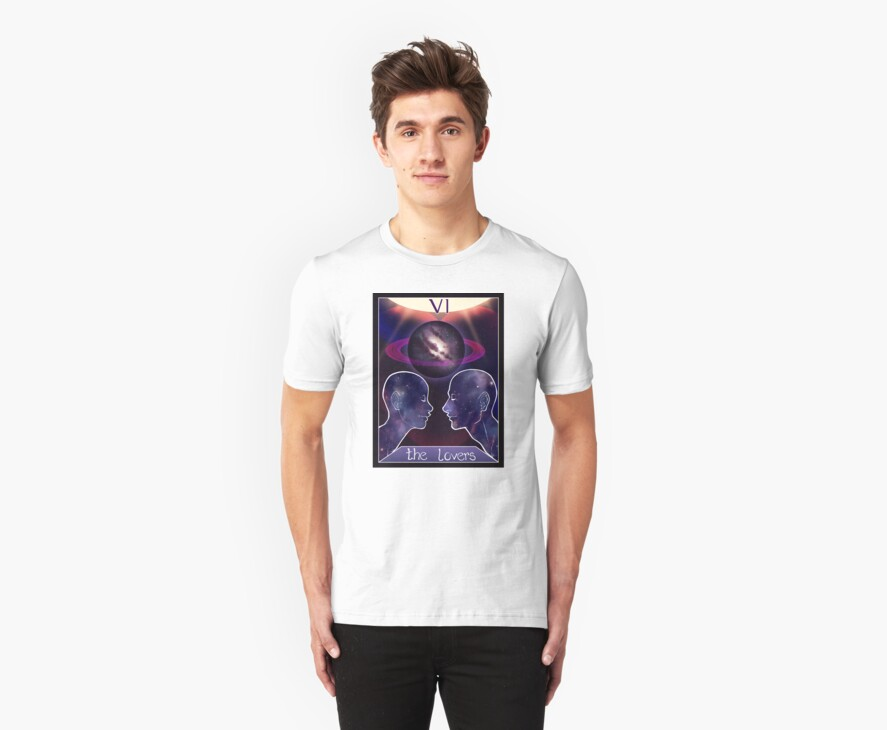"""The Lovers"" Tarot Card Shirt (Saturn!) by GoldenBlackHawk"