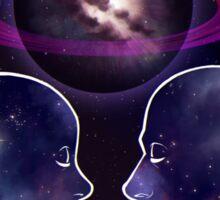 """""""The Lovers"""" Tarot Card Shirt (Saturn!) Sticker"""
