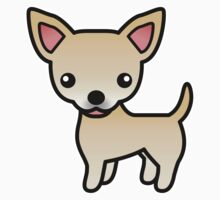 Fawn Smooth Coat Chihuahua Cartoon Dog by destei