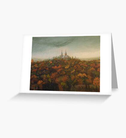 Holy Hill Rain Storm Greeting Card