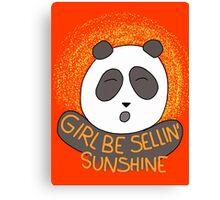 Girl be sellin' sunshine - Panda's song ( We Bare Bears ) Canvas Print