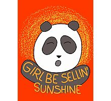 Girl be sellin' sunshine - Panda's song ( We Bare Bears ) Photographic Print