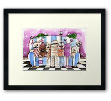Monsters on the sofa Framed Print