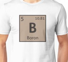 The Periodic Table - Boron Unisex T-Shirt