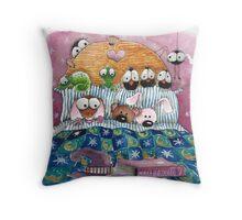 Too afraid too sleep Throw Pillow