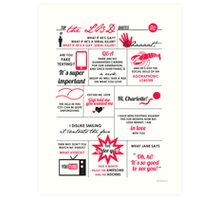 The Lizzie Bennet Diaries Quotes Poster Art Print