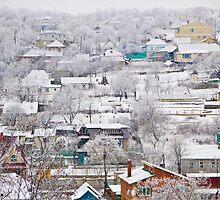 winter village panorama by maxmartin