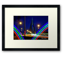 The Anzac Bridge from Glebe Framed Print