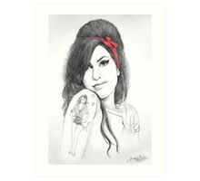 Back to Black Art Print