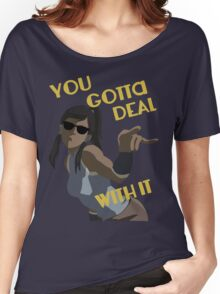 LoK - Korra Deal With It (No Outline) Women's Relaxed Fit T-Shirt