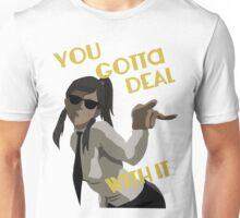 LoK - Korra Deal With It (Suit Version, No Outline) Unisex T-Shirt